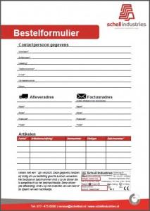 Bestelformulier Schell Industries NL