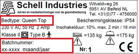 Batchnummer Schell Industries